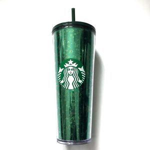 Starbucks Holiday Green Glitter Venti Tumbler